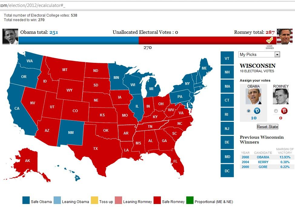 Prediction: A Romney Win = Call to Abolish Electoral College - News ...